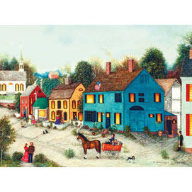 Village Main Street 1000 Piece Jigsaw Puzzle