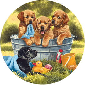 Squeaky Clean 500 Piece Round Jigsaw Puzzle