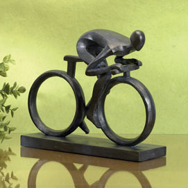 Favorite Pastime Cyclist Statue