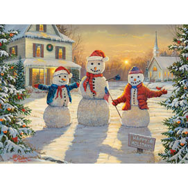 Holiday Greeters 1000 Piece Jigsaw Puzzle