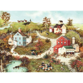 Picnic In the Meadow 1000 Piece Jigsaw Puzzle