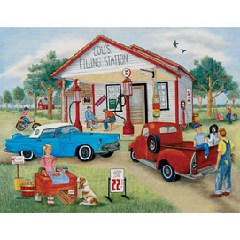 Lou's Filling Station 1000 Piece Jigsaw Puzzle