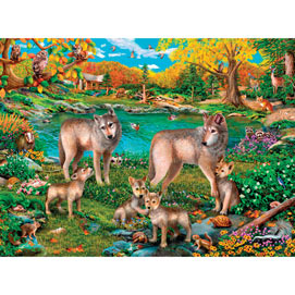 Lake Wolves 300 Large Piece Jigsaw Puzzle