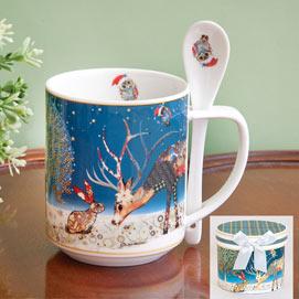 Reindeer Mug and Spoon Set