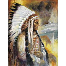 Spirit of the Sioux Nation 300 Large Piece Jigsaw Puzzle
