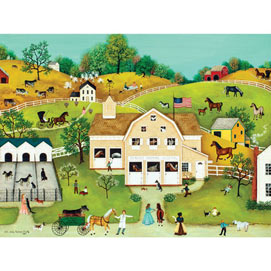 Yellow House 300 Large Piece Jigsaw Puzzle Bits And Pieces
