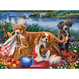 Puppy Picnic 1000 Piece Jigsaw Puzzle