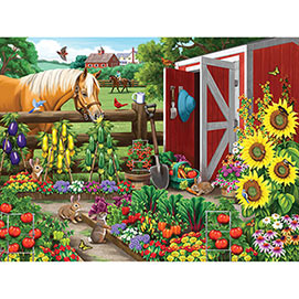 Veggie Garden Visitors 500 Piece Jigsaw Puzzle