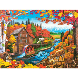 Autumn Mill 500 Piece Jigsaw Puzzle