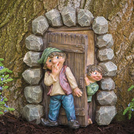 Elf Hide And Seek Garden Sculpture