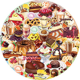 I Love Chocolate 500 Piece Round Jigsaw Puzzle