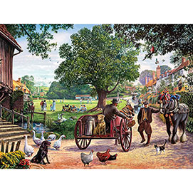The Village Green 500 Piece Jigsaw Puzzle
