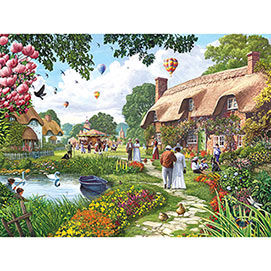 Pond Cottage 500 Piece Jigsaw Puzzle