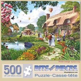 Pond Cottage 500 Piece Jigsaw Puzzle