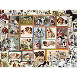 Dogs In Frames 500 Piece Jigsaw Puzzle