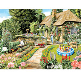 Summer Cottage Garden 300 Large Piece Jigsaw Puzzle