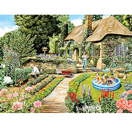 Summer Cottage Garden 1000 Piece Jigsaw Puzzle