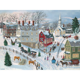 Oak Ridge In Winter 500 Piece Jigsaw Puzzle