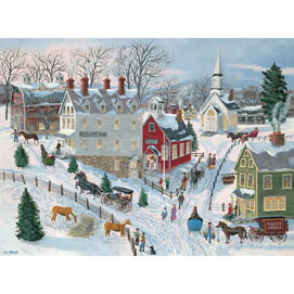 Oak Ridge In Winter 1000 Piece Jigsaw Puzzle