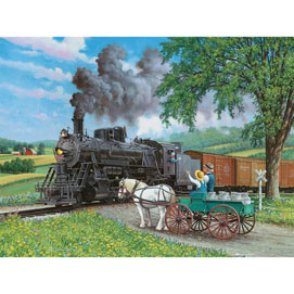 Horse Crossing 300 Large Piece Jigsaw Puzzle