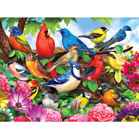 Friendly Birds 300 Large Piece Jigsaw Puzzle