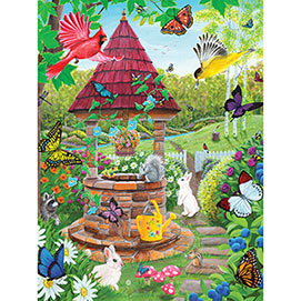 Wishing Well Garden 500 Piece Jigsaw Puzzle