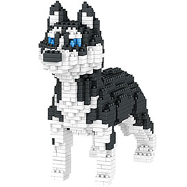 Dog Breed 3-D Block Puzzle- Husky
