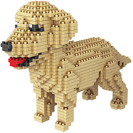 Dog Breed 3-D Block Puzzle- Golden Retriever