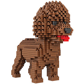 Dog Breed 3-D Block Puzzle- Poodle