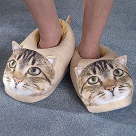 Tabby Cat Comfy Slippers