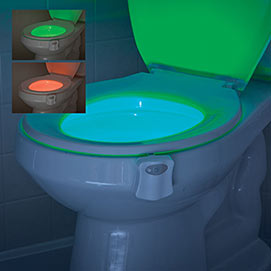 Motion Activated Toilet Bowl Light