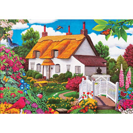 Summer Garden Cottage 500 Piece Jigsaw Puzzle