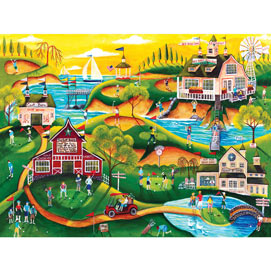 Red Barn Hill Golf Resort 500 Piece Jigsaw Puzzle
