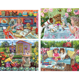 Set of 4: Brooke Faulder 500 Piece Jigsaw Puzzles