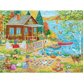 Feeding Friends-y 300 Large Piece Jigsaw Puzzle