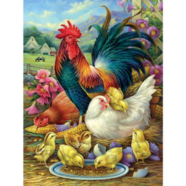 Chicken Yard 300 Large Piece Jigsaw Puzzle