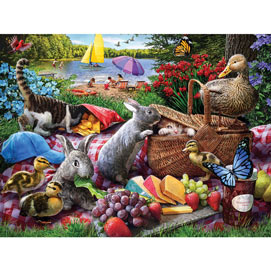 Picnic Surprise 500 Piece Jigsaw Puzzle