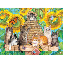 Kittens And Bees 300 Large Piece Jigsaw Puzzle