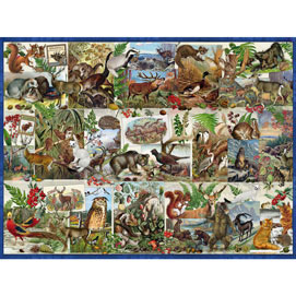 Wildlife Collage 300 Large Piece Jigsaw Puzzle