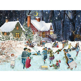 Moonlight Skating 500 Piece Jigsaw Puzzle