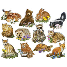 Mini Forest Youngsters 700 Standard Piece Shaped Puzzle