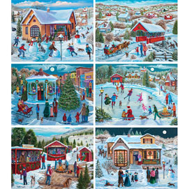 Set of 6: Christine Carey 500 Piece Jigsaw Puzzles