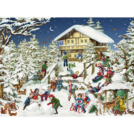 Ski Lodge 300 Large Piece Jigsaw Puzzle