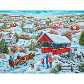 Sleigh Ride Home 500 Piece Jigsaw Puzzle