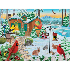 Winter Cottage 500 Piece Jigsaw Puzzle