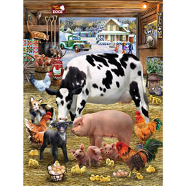 Farmyard Friendlies 300 Large Piece Jigsaw Puzzle