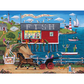 Today's Catch Fish Market 1000 Piece Jigsaw Puzzle