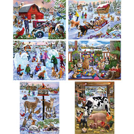 Set of 6: Mary Thompson 300 Large Piece Jigsaw Puzzle