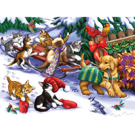 Let's Go Sledding 500 Piece Jigsaw Puzzle