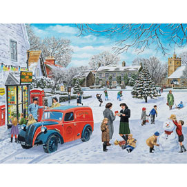 A Snowy Village 300 Large Piece Jigsaw Puzzle